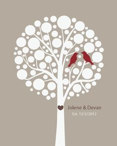 Wedding Couples Love Birds Personalized Prints by 7-Wonders Design