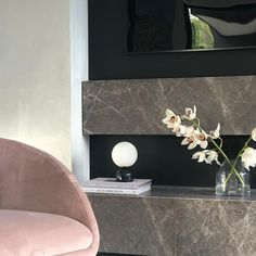Bedside Lighting, The Perfect Touch, Black Marble, Shop Lighting, Light Table, Table Lamp, Mirror, Glass, Wall
