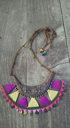 Needle Lace Scarf Models - Needle Lace Scarf Models, # Iğneoyasıfularörneg of # Iğneoyasıtespihmodel of One of the m - Needle Tatting, Needle Lace, Textile Jewelry, Fabric Jewelry, Fall Accessories, Crochet Accessories, Lace Scarf, Bohemian Jewelry, Jewelry Crafts
