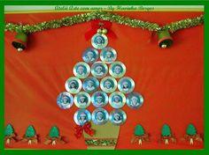 árvore+natal+alunos+painel+mural+cd+reciclagem+dvd.JPG (882×661)