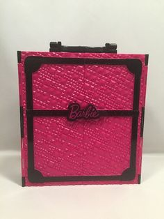 2011 Barbie Mattel Fashionista Pink &  Black Plastic Carrying Case Closet & Doll #Doesnotapply