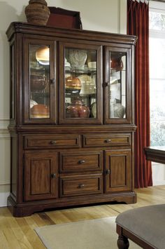 Dining Room Decor Leximore Hutch By Ashley Furniture At Kensington Great Storage Solution For A Formal