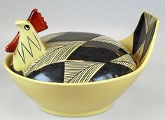 Inger Waage for Stavangerflint Pottery Animals, Ceramic Animals, Vintage Pottery, Vintage Ceramic, Bennington Pottery, Chicken Painting, Rooster Decor, Chickens And Roosters, Mid Century Style