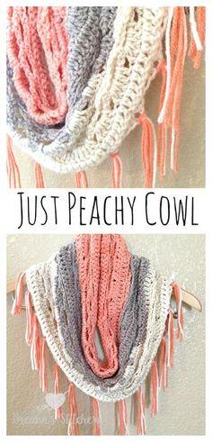 ***RECENTLY UPDATED PATTERN*** Just Peachy Cowl Crochet Pattern – Breann's Stitchery