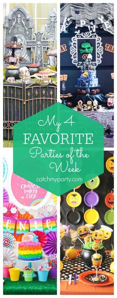 My favorite parties this week include a spooky graveyard Halloween party, a Hall. Halloween Emoji, Halloween Bingo, Halloween Countdown, Halloween Party Favors, Halloween Celebration, Halloween Activities, Party Activities, Fun Activities For Kids, Family Halloween