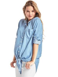 0495d1d949 Maternity Tie-Front Shirt in TENCEL™