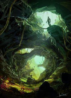 swiss cave by jameswolf.deviantart.com on @deviantART