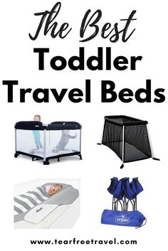 Are you wondering what is the best toddler travel bed on the market? Here is my list of the best and most portable toddler travel cribs that I have come across. Options for toddlers that are still using the crib and those that are in a big bed! Portable Toddler Bed, Toddler Travel Bed, Toddler Sleep, Baby Travel, Travel Wall, Free Travel, Traveling With Baby, Travel With Kids, Family Travel