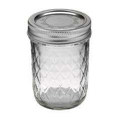 Ball 8oz Quilted Crystal Jelly Mason Jars (1440081200) - 12 count