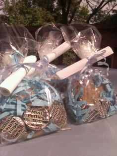 Blue and silver sweet sixteen party favors!