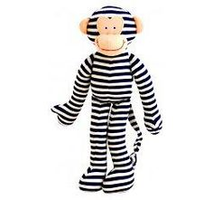 Beautiful, soft Alimrose Monkey Toy Rattle with Navy Stripes. The perfect size for baby to hold and keep them entertained for hours. Educational Toys For Kids, Kids Toys, Baby Rattle, Child Doll, Navy Stripes, Navy Blue, Baby Online, Happy Baby, Fine Motor Skills