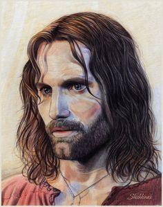 Aragorn, son of Arathorn by Shishkina.deviantart.com on @DeviantArt