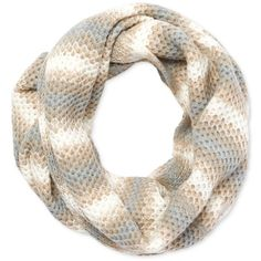 Calvin Klein Ombre Honeycomb Infinity Scarf (1.890 RUB) ❤ liked on Polyvore featuring accessories, scarves, grey, tube scarf, grey infinity scarf, ombre scarves, loop scarves and infinity scarves