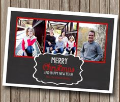 Chalkboard Custom Photo Christmas Card