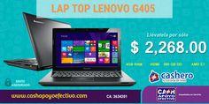 Para este regreso a clases. Computadora Lenovo G405 por sólo $ 2,268.00