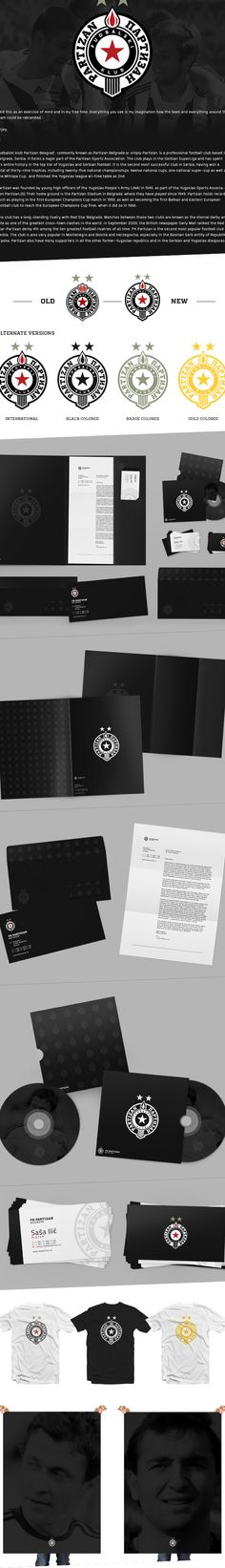 FK Partizan Rebranding on Behance