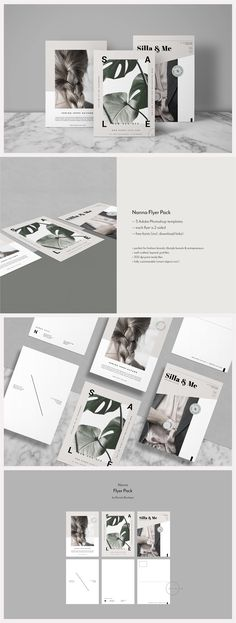 3 Lifestyle Postcard Flyers - Nanna by Nonola on @creativemarket