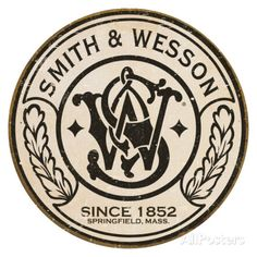 Smith & Wesson - Round Tin Sign at AllPosters.com