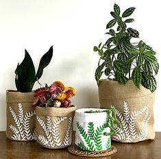 plant bag - fern - the Good Home Project