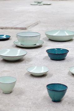 Love this served! Aqua Tableware by Serax