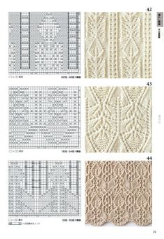260 Knitting Pattern Book by Hitomi Shida 2016 — Yandex. Lace Knitting Patterns, Knitting Stiches, Cable Knitting, Knitting Books, Knitting Charts, Lace Patterns, Knitting Designs, Stitch Patterns, Stitch Book