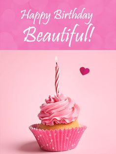 Happy Birthday Beautiful Card. From the minute you met your loved one, you knew she was the one for you. No one else is more beautiful, smart, or incredible than your sweetheart, so celebrate everything you love about her on her special day. Use this beautiful Happy Birthday card to show her how much you love and appreciate about her. Your sweetheart deserves nothing less than the best, so send this card to celebrate today!