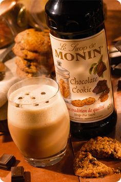 Chocolate cookie latte with Monin Syrup
