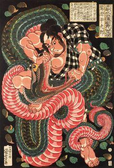 Les monstres d'Utagawa Kuniyoshi, l'un des derniers maîtres de l'estampe                                                                                                                                                                                 Plus