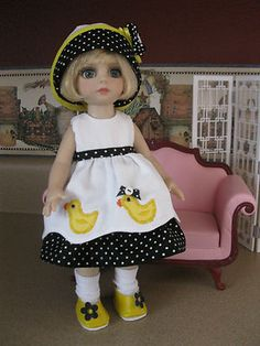 """NEW Patsy Ann Estelle 5 piece outfit (w/shoes) 10"""" doll called Bottoms UP"""
