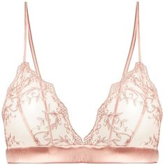 Fleur of England Sofia Boudoir soft-cup lace bra ($120) ❤ liked on Polyvore featuring intimates, bras, pink lace bra, sheer bra, see-through bras, sheer lace bra and see through lace bras