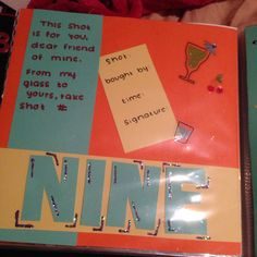 How to Make a 21st Birthday Shot Book So at first I didnt