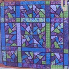 Purple Passion Quilt Pattern READY TO SHIP by QuiltingAspirations.    You can do this with bias blocks already made....reminds me of stained glass