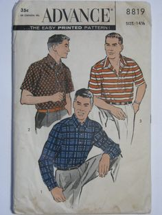 Advance 8819 1950s men's sport shirt