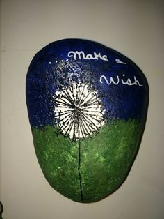 Make a wish painted rock wishmaker
