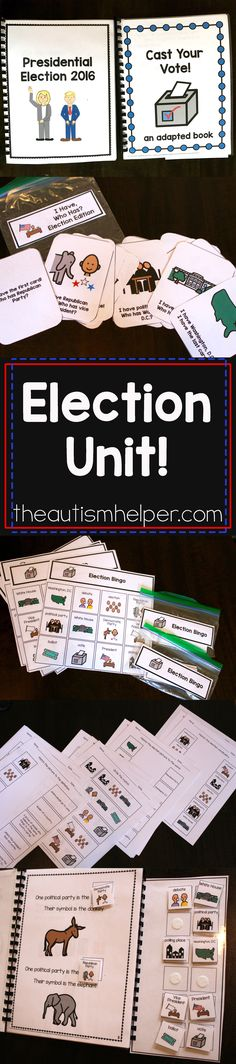 Election Unit - The Autism Helper Teaching Time, Teaching Social Studies, Student Learning, Teaching Tools, Pre K Lesson Plans, Special Education Behavior, Life Skills Activities, Self Contained Classroom, School