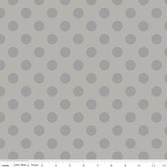 Riley Blake Designs - Dots - Medium Dots Tone on Tone in Gray