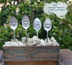 DIY vintage spoons with names for your wedding