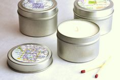 Upcycle your maps into candle decor!
