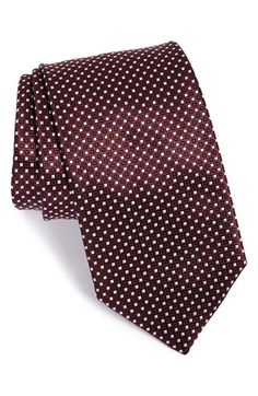 Ermenegildo Zegna Dot Print Silk Tie available at #Nordstrom