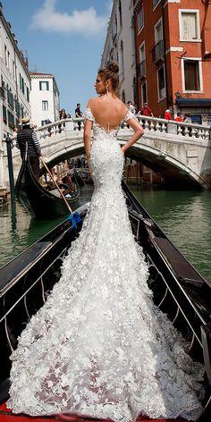 mermaid off the shoulder open back julie vino wedding dresses / http://www.deerpearlflowers.com/best-wedding-dresses-2018/8/