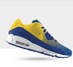 newest c4842 9c5fd Nike Air Max 90 Engineered Mesh iD chaussure Homme Jaune Bleu Blanc   NikePasCher 219  -
