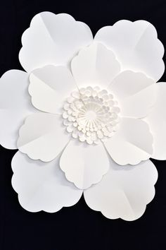 Giant 2 pi fleur de papier pour la décoration de mariage par comeuppance