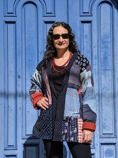 The Making of a Boro-inspired Jacket - ANY Texture - Textile Art Kimono Fashion, Fashion Outfits, Fashion Fashion, Couture, Denim Art, Jumpsuit Pattern, Jacket Pattern, Origami Fashion, Denim Crafts