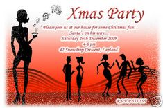 Get your guests excited to dance with this holiday dance party invitationDisco party invitation cards creative vector Free vector in Holiday Party Invitations, Unique Invitations, Birthday Invitations, Invites, Disco Party, Xmas Party, Christmas Cocktails, Christmas Fun, Todays Birthday