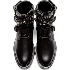 Saint Laurent Black Rangers Ankle Boots and other apparel, accessories and trends. Browse and shop related looks.