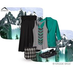 """Mountains"" by Maggie Bags on #Polyvore #MaggieBags #handbags #purses #fashion @patagonia"