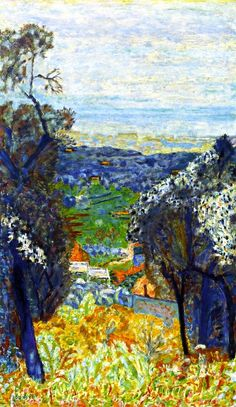 "huariqueje: ""  Landscape in the South of France , Le Cannet - Pierre Bonnard, 1926 French, 1867-1947 Oil on canvas, 107.32 cm (42.25 in.), 63.5 cm (25 in.) """