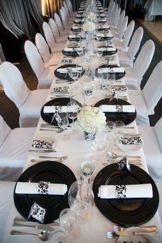 Schwarz-weiß-Hochzeit - Black & white wedding - http://www.riessersee.com/