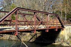 rusty old bridge in my hometown