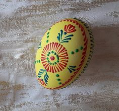 Pysanka, Easter egg, ornament, handmade decoration. Easter egg, made in wax embossing technique.